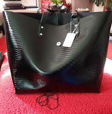 Primark Ladies Black Patent Leather XLarge Tote / Shopper Shoulder bag. BNWT.