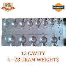 Fishing Sinker Mold Lead Round Jig Do It 13 cavity (4 - 28 G; 0.14 - 1 OZ)