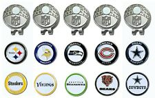 Team Golf NFL Golf Cap Clip with 2  Magnetic Ball Markers - pick your team