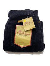 Vintage Thomas Cook Womens Corduroy Long Skirt Size 10 Navy Brand New