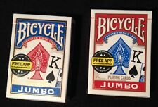 1 Deck Bicycle Rider Back 808 Poker Jumbo Index Playing Cards Red or Blue New