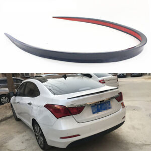 47in/1.2M Car Rear Wing Lip Spoiler Black Tail Trunk Roof Trim Sticker Decor
