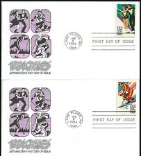 PAIR WINTER OLYMPIC FDC'S - ICE DANCING & DOWNHILL SKIING - ARTMASTER CACHETS!