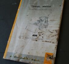 JCB 406 Front End Wheel LOADER Owner Operator Operation Maintenance Manual book
