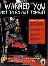 "Maniac ""MVC"" 2002 Magazine Advert #5490"