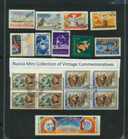 Old Russia Mini Commemoratives Collection incl Blocks  Over $6.00 Retail Value