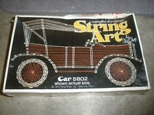 NEW 1977 Vintage Metallic Miniature String Art by Ship Shop Car 5802