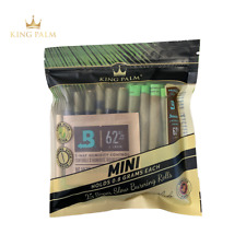 King Palm | Mini Size | Natural Organic Leaf Rolls Wraps | 25 Pack with Freebies
