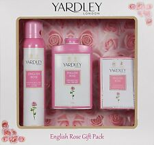 Yardley Rose Set Of Body Spray Perfume Talc Luxury Soap Gift Pack