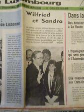 SANDRA KIM DE RETOUR EN BELGIQUE APRES SA VICTOIRE A L'EUROVISION - 06/05/1986 -