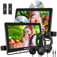 "10.1""Car Portable DVD Player Monitor Dual Screen USB SD AV IN/OUT1080P+Headphone"