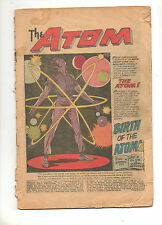 Showcase #34 1ST APP The ATOM! Cover-less KEY DC 1961! Justice League Legends TV