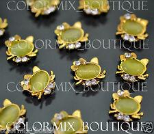 10pcs 3D Nail Art Decoration Alloy Jewelry Gold Cute Glitter Rhinestone#CA053