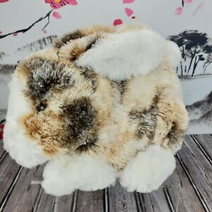 "12"" Dan Dee Plush Bunny Rabbit Brown White Stuffed Animal Realistic Easter"