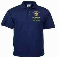USS SAMPSON  DDG-10  NAVY ANCHOR  EMBROIDERED LIGHT WEIGHT POLO SHIRT