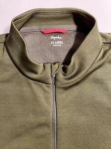 RAPHA Men's Brevet Short Sleeved Jersey XXL Olive Green Classic VGC