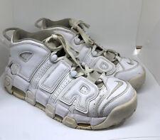 Nike Air More Uptempo 96 Triple White Pippen Size 10 Rare 921948-100 3M Laces