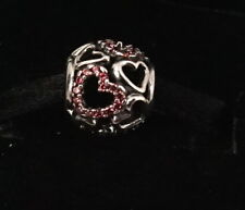 NEW Authentic Pandora Silver Fancy Pink Falling In Love Charm 791424CZS