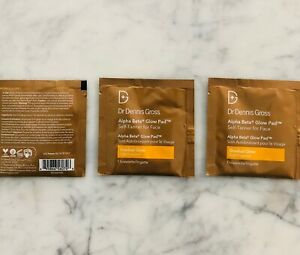 New Dr. Dennis Gross Alpha Beta Glow Pad Self Tanner For Face 3 pack Treatment