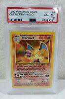 1999 Pokemon Charizard Holo Base Set Unlimited 4/102 PSA 8 Near Mint - Mint