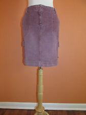 New J. Jill Womens Size 6 Washed Plum Purple Corduroy Active Cord Cargo Skirt