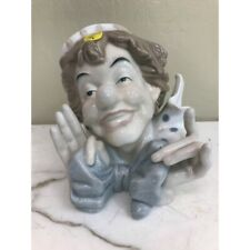 Porcelain Clown Head Figurine