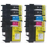 10 PK INK NON-OEM LC-61 LC65 FOR BROTHER DCP-J140W DCP-J630W MFC-J410W MFC-J270W