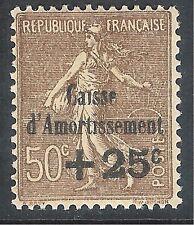 France 1930 Sinking Fund sepia 50c + 25c mint SG486