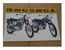 1973 Honda CB100 K2 / CL100 K2 Motorcycle Sales Brochure/ Poster - Literature