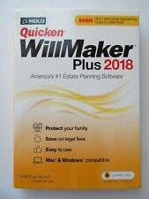 Nolo Quicken WillMaker Plus 2018 & Living Trust NEW IN THE BOX - SEALED