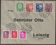 Estonia 1937 Cover to Germany with Mi 124-6,127-130