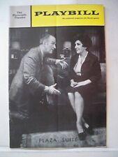 PLAZA SUITE Playbill NEIL SIMON / MAUREEN STAPLETON / DON PORTER NYC 1969