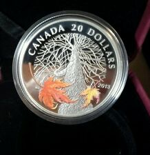 2013 Canada $20.00 Fine Silver Coin Canadian Maple Canopy Autumn
