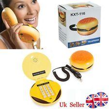 UK Creative Hamburger Cheeseburger Corded Telephone Cool Burger Wired Phone Gift