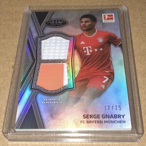 2020-21 Topps Tier One Bundesliga Dual Relics Serge Gnabry /25 Bayern Munich SSP