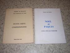 1967.cameroun.poésies / Henry de Julliot.envoi autographe.2 livres