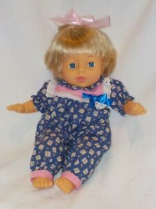 """Adorable 14"""" Vinyl Baby Doll W/ Cooing Baby Voice Box By Cititoy 1996"""