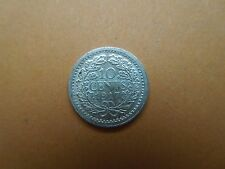N750 COINS NETHERLANDS 1917  SILVER  10 CENT UNC.