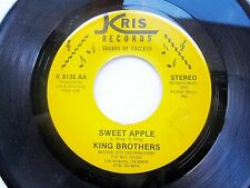 FUNK BLUES SOUL 45: KING BROTHERS Sweet Apple/Part 2 KRIS 8135 Boogie City