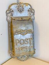 ♥ Clayre & Eef ♥ Metall Briefkasten Postkasten Dekokasten Grau Shabby Vintage