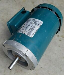 Reliance Electric 1.5 hp 3 phase motor 1725 rpm 56C frame TEFC