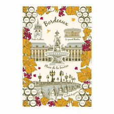 French Kitchen Dish/Tea Towel City Of Bordeaux 100% Cotton  Made In France