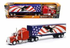 NEWRAY 1:43 DIE-CAST TRAILER KENWORTH W900 W900 PATRIOTIC GRAPHIC SS-15333X