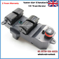 Front Left Electric Power Window Control Switch For Honda Civic 35750-S5A-A02ZA