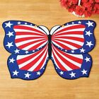 AMERICANA USA PATRIOTIC FLAG BUTTERFLY SHAPED RUG MAT - HOME DECOR