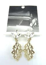 New Ornate Gold Dangle Rhinestone Earrings by Anthropolgie nwt #Anthro7