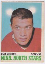1970-71 O PEE CHEE HOCKEY BOB MCCORD #41 NORTH STARS VGEX *61740