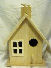 Unfinished Wood Hanging Birdhouse with Chimney, Paint or Finish to suit Yourself