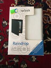 Splash Raindrop White Leather Case Cover For iPad Mini + Stylus NEW