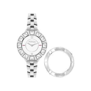 Orologio Donna FURLA CLUB R4253109503 Acciaio Bianco + Ghiera Intercambiabile